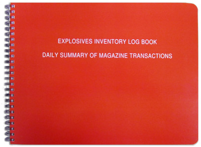 explosives inventory log book daily summary of magazine