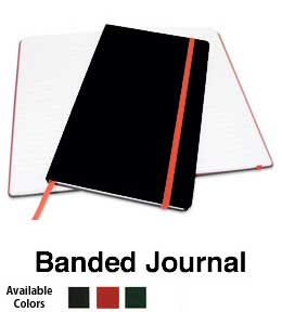 personal journal with rounded corners and elastic band