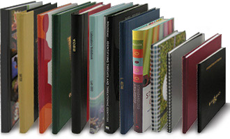 custom blank and printed books in various bindings and covers