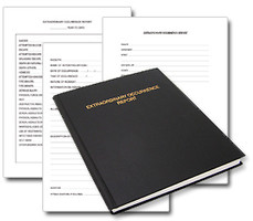 casebound extraordinary occurrence report book for correctional facilities