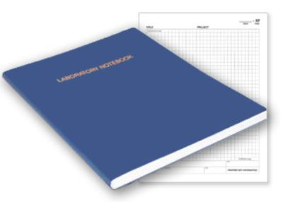 economical flex cover notebook with grid pages for lab use