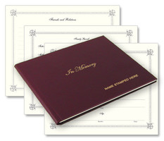 personalized leather memorial book for honoring the dearly departed