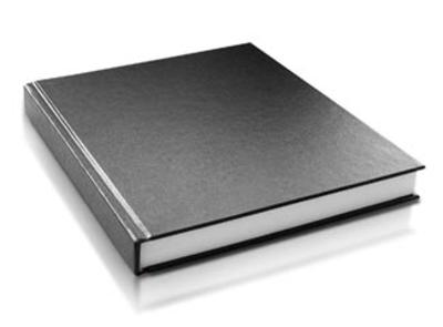 Smyth sewn blank book with hard cover