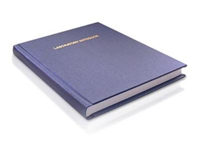 casebound oversized lab notebook expands to accomodate inserts