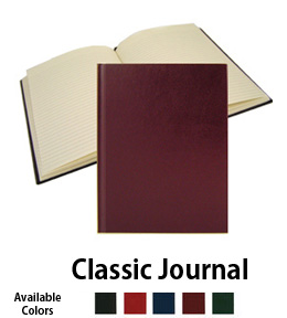 classic burgundy imitation leather journal