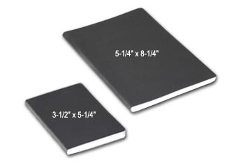 permanently bound mini blank notebook and pocket sized blank book